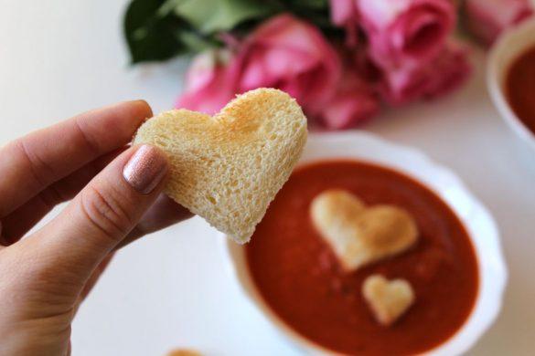 Menü für Valentinstag